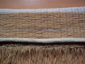 Blanket- fine peg loom - detail