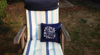 Blue Fabric Daisy